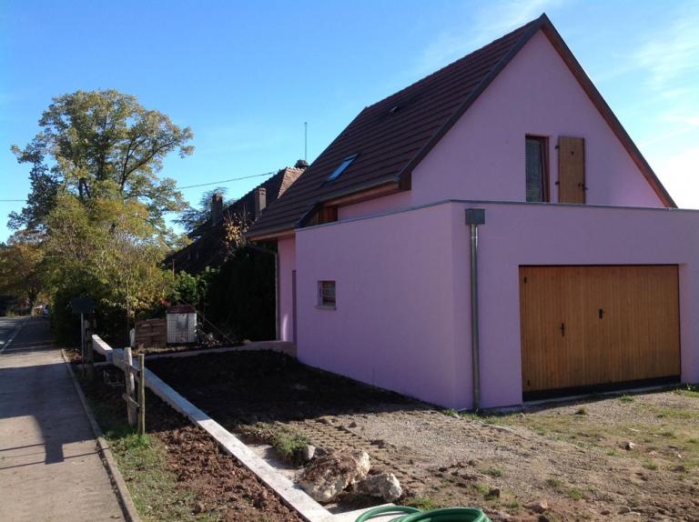 Crépi façade maison neuve