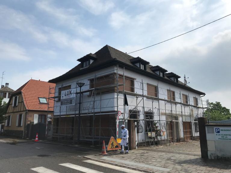 Rénovation façade pharmacie