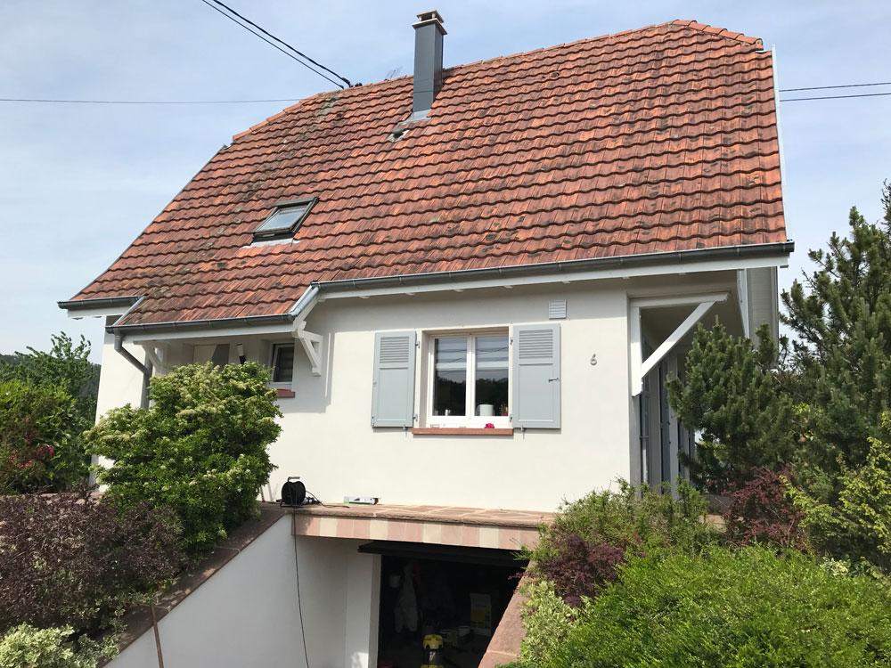 Rénovation façade maison individuelle - Lux Peinture et ...