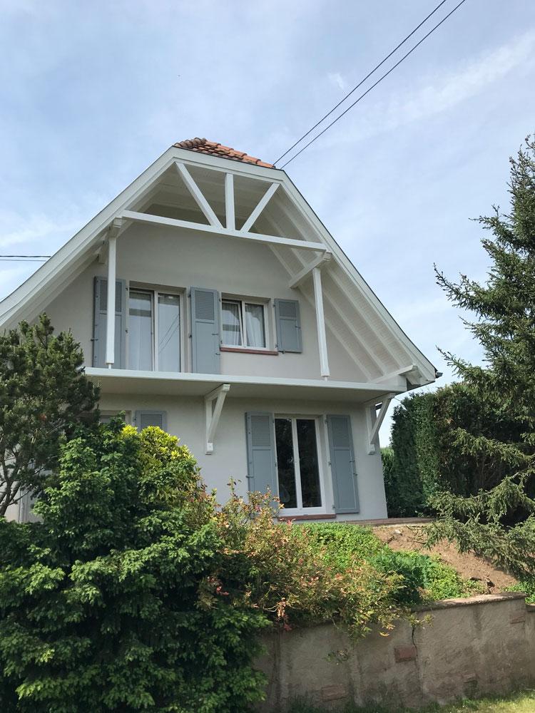 Lux peinture et décoration spécialiste rénovation de façade boisirerie et peinture extérieure à Sélestat Bas-Rhin Alsace Grand Est